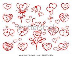 Valentine Elements Stock Vector 124503556 : Shutterstock