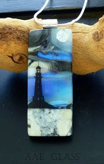 From my Extreme Glass Fusing Boot camp.  Lighthouses are big!