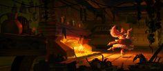 Kristina Vardazaryan - USA  Ilustración uso de luces y sombras
