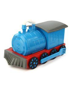 Look at this #zulilyfind! Blue Chew Chew Train Place Setting by Urban Trend Funwares #zulilyfinds