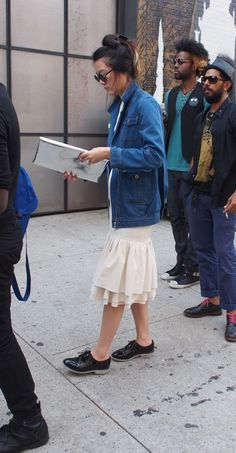 Mister Mort - Chore Jacket Over A Dress ~ NYFW