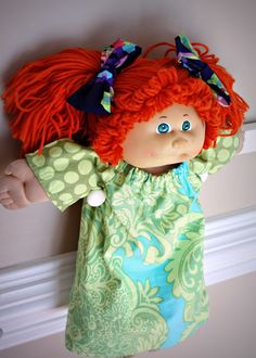 I Make Stuff.: Cabbage Patch Peasant Dress TUTORIAL  New dress for B's baby