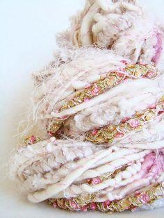 Hand Spun Art Yarn Spinning Wool, Hand Spinning, Crochet Yarn, Knitting Yarn, Shibori, Yarn Inspiration, Yarn Projects, Yarn Colors, Colours