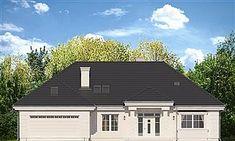 Elewacja frontowa projektu Willa Parkowa 5 Plans, Garage Doors, House Design, Landscape, Outdoor Decor, Floor, Home Decor, Kitchen, Dreams