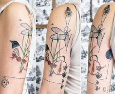 """""Vida"" for Sofi #kizun #tattoo #ink #argentina #design #art #plantstattoo #naturetattoo #equilibrium #insects #bird #life #tattooedgirl #girltattoo…"""