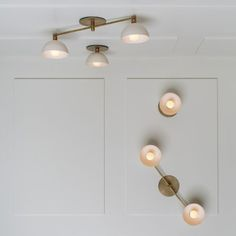 Contemporary ceiling light / brass / incandescent TRAPEZE Apparatus