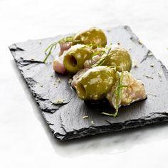 Aceitunas gordal con bonito del Cantábrico