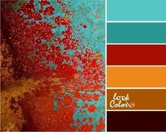 Bedroom Vintage Red Color Schemes 54 Ideas For 2019 Color Schemes Colour Palettes, Red Colour Palette, Color Palate, Turquoise Color Palettes, Color Combinations, Red Paint Colors, Colours, Design Seeds, Bedroom Vintage