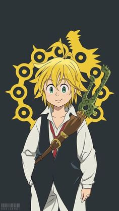 Have a wallpaper of Meliodas cause why not (anime: Seven Deadly Sins)
