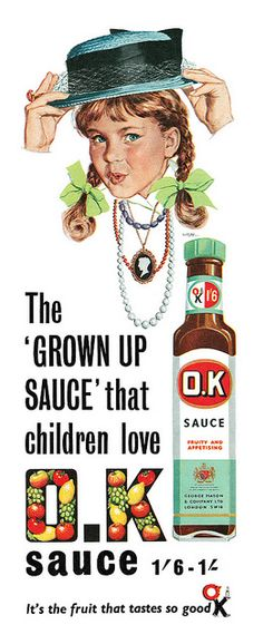 Vintage OK Sauce Ad - 1958 I don't know much about this sauce brand. Time for some research!