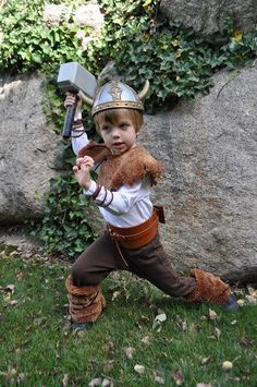 A viking costume for kids.