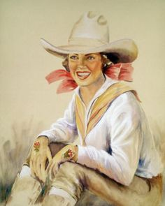 Lynn Brown captures the femininity of cowgirls - just gorgeous!