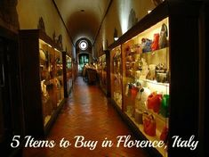 5 Items to Buy in Florence, Italy << love the photos