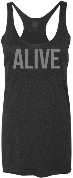 Alive (Grey) Tri-Blend Racerback Tank-Top