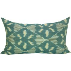 Schumacher Darjeeling Ikat Lumbar Pillow Cover in Peacock (€45) ❤ liked on Polyvore featuring home, home decor, throw pillows, decorative pillows, grey, home & living, home décor, peacock throw pillows, gray throw pillows and grey home decor