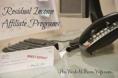 15 Residual Income Affiliate Programs