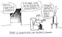 """Ahora presentamos nuestra caricatura: """"Desde la canasta familiar"""""""