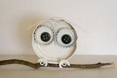 DIY Button : DIY Bottle Cap Owl -
