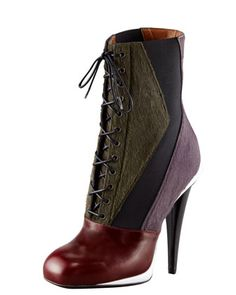 Victorian Calf Hair Colorblock Bootie by Fendi....love this boot...would fall down in about 2 seconds!!!!