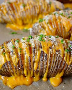 Cheesy Parmesan And Cheddar Hasselback Potatoes via @feedfeed on https://thefeedfeed.com/justataste/cheesy-parmesan-and-cheddar-hasselback-potatoes