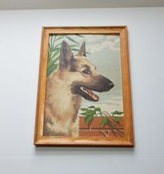 Vintage Paint By Number German Shepard Dog by OffbeatAvenue on Etsy