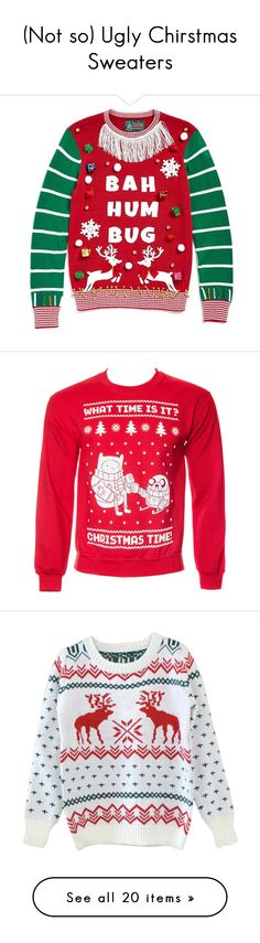 """""""(Not so) Ugly Chirstmas Sweaters"""" by taylornl ❤ liked on Polyvore featuring tops, sweaters, cayenne, red christmas sweater, red snowflake sweater, holiday tops, snowflake sweater, red sweater, jumpers sweaters and christmas sweater"""