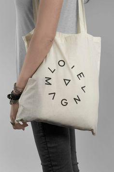 Logo and tote with screen print detail for production studio Love Magna / Musa WorkLab Bolsa con logo, logo net Rundes Logo, Cotton Tote Bags, Reusable Tote Bags, Jute, Web Design, Logo Design, Graphic Design, Branding Design, Bag Packaging