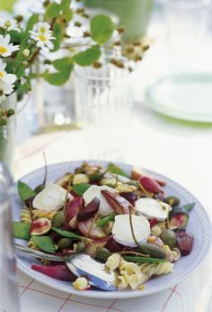 Pasta Salad with Roasted Beets and Chevre Cheese