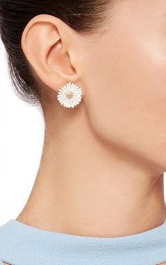 Large Daisy Earrings by ALISON LOU Now Available on Moda Operandi