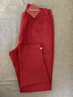 Spodnie z bengaliny Cevlar B08 kolor bordowy - Big Sister