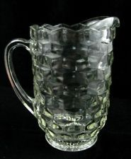 Vintage Fostoria American Glass Crystal 1 1/2 Qt 48 Oz Pitcher Water Lemonade