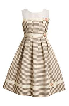Pencil Stripe Dress (Little Girls)