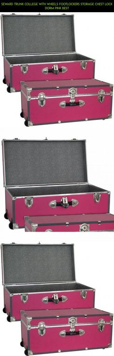 Seward Trunk College With Wheels Footlockers Storage Chest Lock Dorm Pink Best #drone #wheels #camera #fpv #gadgets #technology #plans #kit #parts #products #shopping #racing #with #storage #tech
