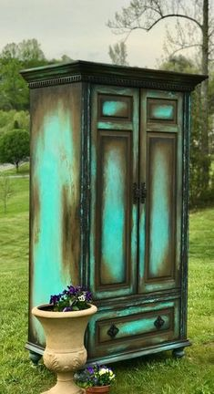 Boho Armoire Farmouse Painted Wardrobe Old World Media Console Shabby Ch. Boho Armoire Farmouse Painted Wardrobe Old World Media Console Shabby Chic Storage Cabinet French Country Hutch - Funky Furniture, Paint Furniture, Shabby Chic Furniture, Furniture Projects, Furniture Makeover, Rustic Furniture, Smart Furniture, Antique Furniture, Furniture Storage