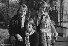 Swedish pop group, Abba, Stockholm, April 1976. Clockwise, from top left: Benny Andersson, Björn Ulvaeus, Agnetha Fältskog and Anni-Frid Lyngstad.