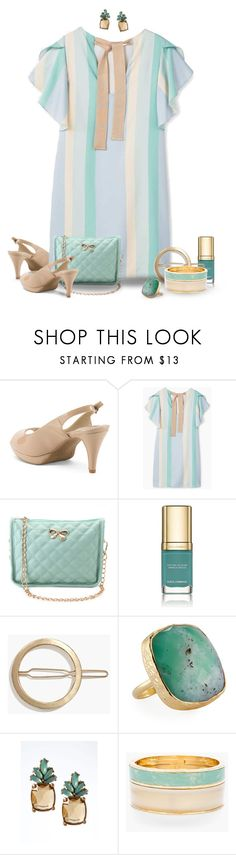 """""""Striped Dress"""" by joy2thahworld ❤ liked on Polyvore featuring MANGO, Dolce&Gabbana, Madewell, NAKAMOL, Banana Republic and Chico's"""