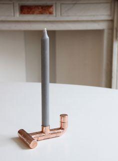 Bougeoir en cuivre - DIY copper candle holder