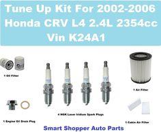 Tune Up Kit for 2002-2006 Honda CRV Spark Plug, Oil Filter, Cabin Filter, Oil Dr #AftermarketProducts