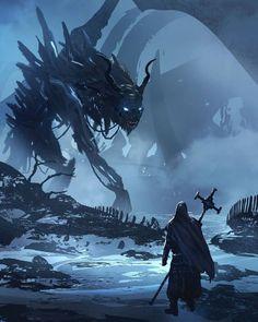 Cascading Dark Art, Fantasy, Sci-Fi, & Sex Appeal - That's one hellova dream catcher; one built to. Dark Fantasy Art, Fantasy Concept Art, Fantasy Artwork, Dark Art, Demon Artwork, Fantasy Monster, Monster Art, Creature Concept Art, Creature Design