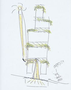 Gateway by Norman Foster at Venice Architeture Biennale 2012- proof that sketches arent always pretty, even by the best!