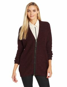 BCBGeneration Women's Zip Front Boyfriend Cardigan Sweater, Marled Brule, Medium/Large BCBGeneration,http://www.amazon.com/dp/B00F6E47KY/ref=cm_sw_r_pi_dp_Eb7Rsb0VZPPPFWBB