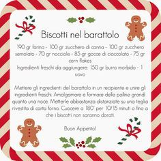 biscotti in barattolo ricetta - Cerca con Google Diy Christmas Cards, Christmas Cookies, Christmas Time, Christmas Gifts, Christmas Decorations, Biscotti Cookies, Xmax, Santa Claus Is Coming To Town, Seasonal Food