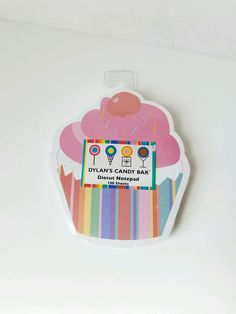 NIP NWT Dylan's CANDY Bar Cupcake Notepad Stocking Stuffer    | Home & Garden, Greeting Cards & Party Supply, Stationery & Note Pads | eBay!
