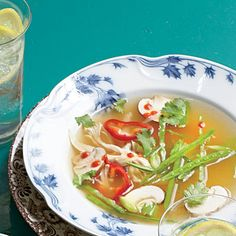 Lemongrass-Turkey Soup | The fragrant flavors in this refreshing tonic of a soup are the antidote to a rich Thanksgiving feast. For a heartier spin, serve it over rice or noodles. Can't find fresh lemongrass in the produce section of your supermarket? Try our version that uses Thai ginger-infused chicken broth instead.