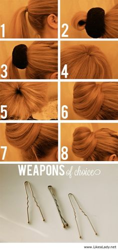 Different take on the sock bun - Gotta try this since my hair is too short for the original sock bun method!