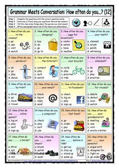 Grammar Meets Conversation 12 - How often do you (12) - Asking about regular activities