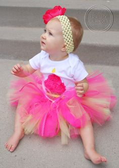 RASPBERRY LEMONADE SETBirthday Girl Cupcake Onesie by HAPPYBUBKIN, $52.00