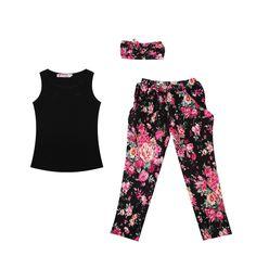 Купить товар2015 новый малыша девушки наряды повязка на голову + + цветочные брюки детская одежда , установленные в категории Комплекты одеждына AliExpress.         Особенности:       Новое и высокое качество       Девочек, модные цветочные повседневная детская одежда набор