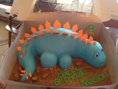 Dinosaur birthday cake!