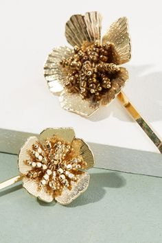 Set of Two Floral Hair Pins